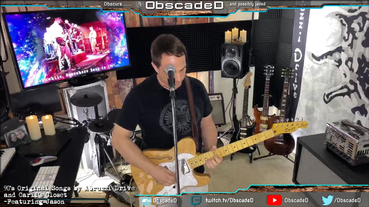 Watch My old 90's Original Songs with Abruzzi Drive and Carli's Closet Live from my Studio