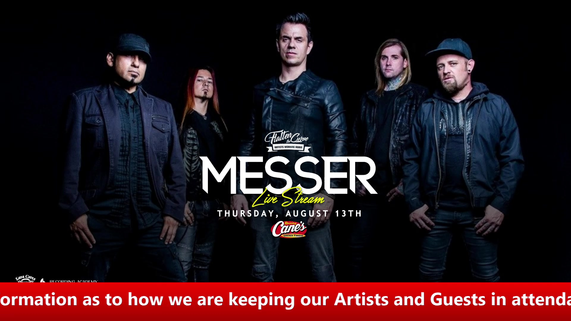 Watch MESSER LIVE at Lava Cantina Presented by Raising Cane's Chicken Fingers and Sam Pack's Five Star Ford in Dallas!