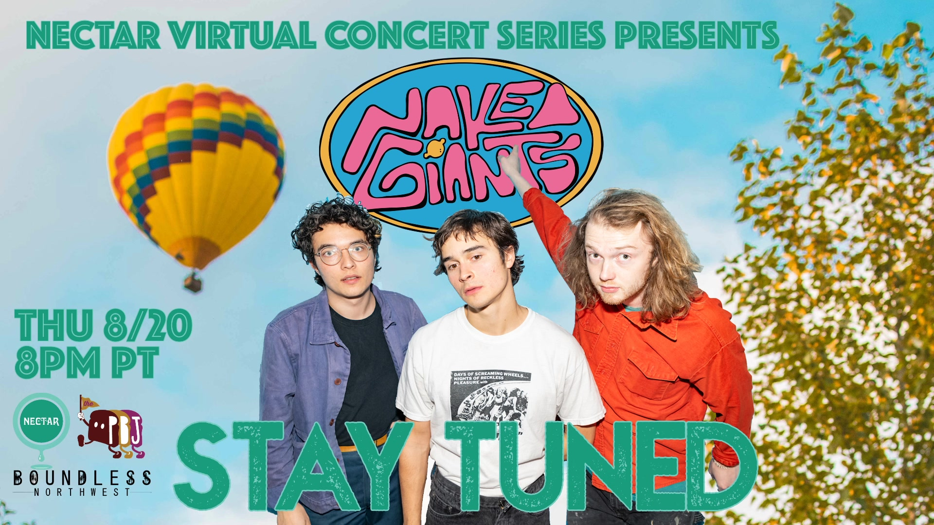 Watch Nectar Virtual Concert Series - Naked Giants