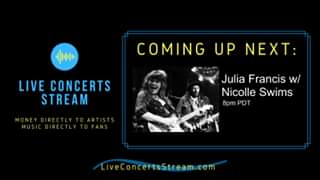 Watch September 4th, 2020 - Julia Francis w/ Nicolle Swims (8pm PDT)